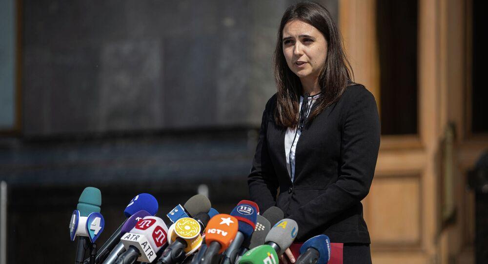 المتحدثة باسم الرئيس الأوكراني يوليا مندل