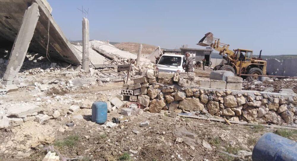 سبوتنيك ترصد أحد أهداف العدوان الإسرائيلي على سوريا
