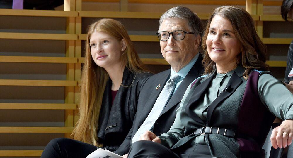 رجل أعمال الأمريكي بيل غيتس و زوجته مليندا غيتس، 2017