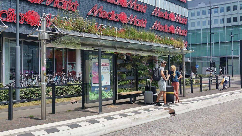 محطة الحافلات العمومية  في مدينة أيندهوفن، هولندا