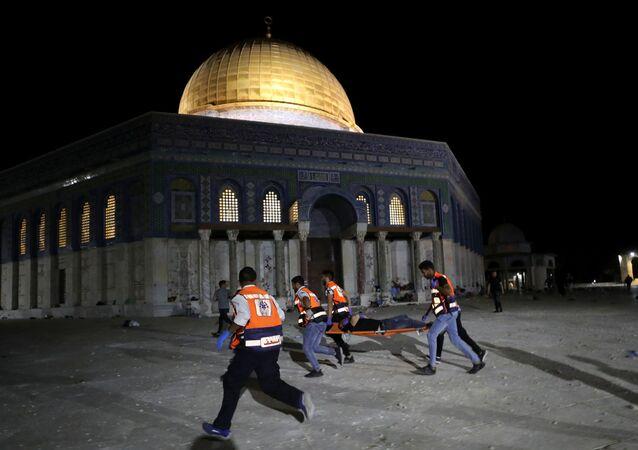 توتر بشأن إخلاء محتمل لعدد من العائلات الفلسطينية في حي الشيخ جراح في القدس الشرقية، 7 مايو/ أيار 2021