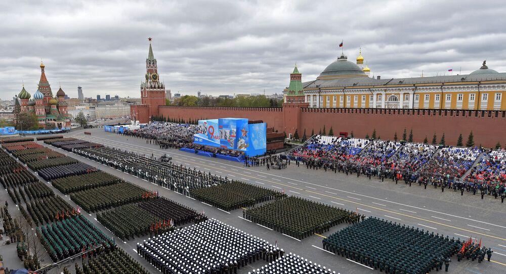 العرض العسكري للاحتفال بالذكرى الـ 76 للنصر في الحرب الوطنية العظمى في الساحة الحمراء بالعاصمة الروسية،