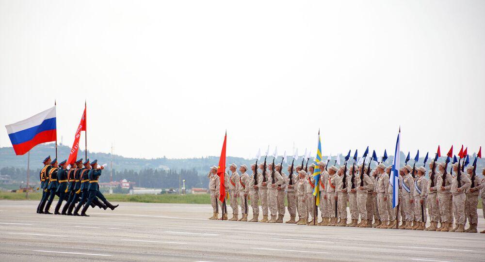 الجيشان الروسي والسوري يطلقان صيحات النصر على شاطئ المتوسط