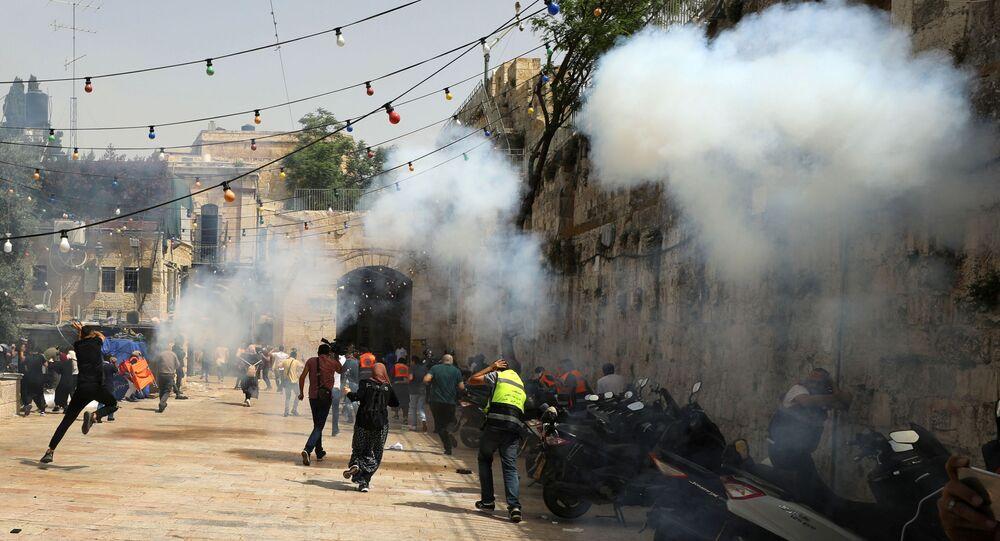 أحداث - الشيخ جراح - اشتباكات بين الجانبين الفلسطيني والإسرائيلي، ساحة الأقصى، فلسطين 10 مايو 2021