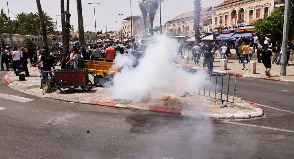 أحداث - الشيخ جراح - اشتباكات بين الجانبين الفلسطيني والإسرائيلي، القدس، فلسطين 10 مايو 2021