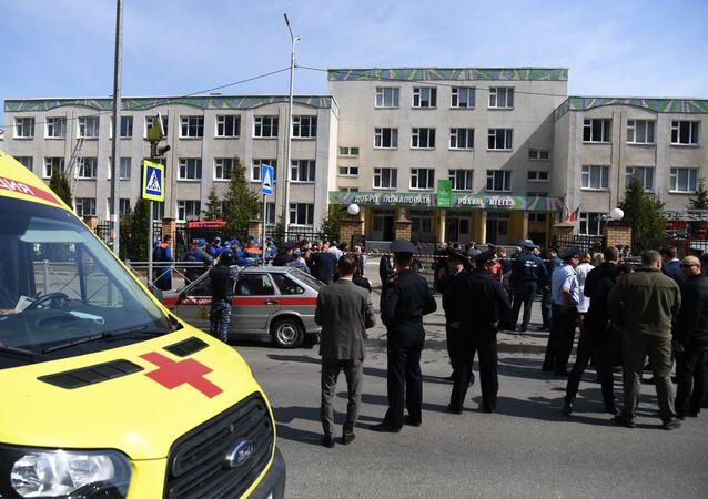 حادث إطلاق نار بإحدى مدارس مدينة قازان، روسيا 11 مايو 2021