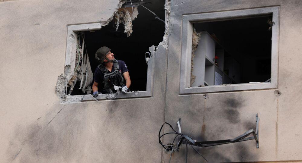 تبادل إطلاق نار بين الجانبين الفلسطيني و الإسرائيلي، قطاع غزة، غزة، فلسطين، إسرائيل 11 مايو 2021