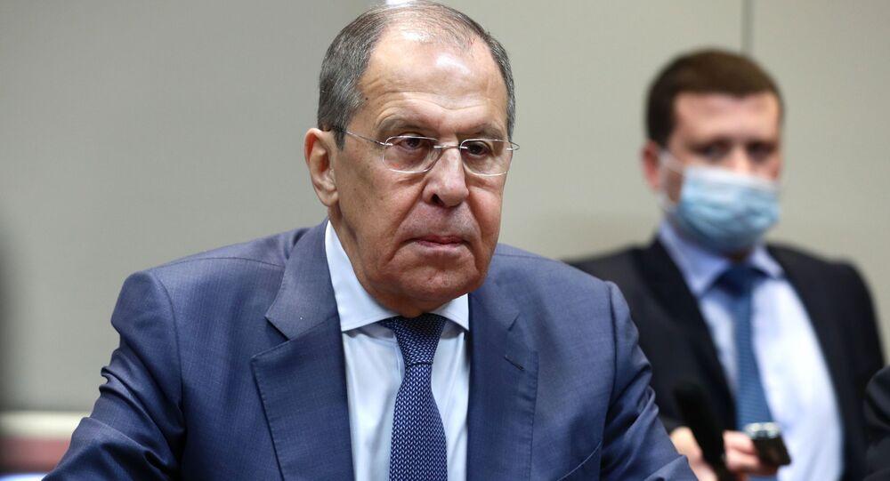 لقاء وزير الخارجية الروسي، سيرغي لافروف وزير الخارجية الأذربيجاني جيهون بيراموف، أذربيجان 11 مايو 2021