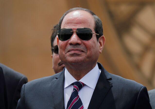 الرئيس المصري عبد الفتاح السيسي في الإسماعيلية، مصر، 5 مايو 2019