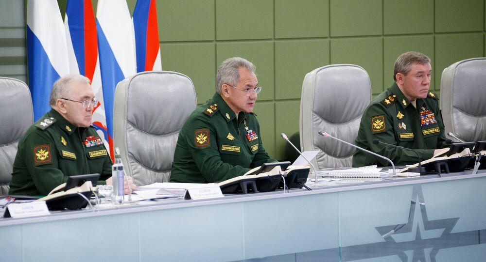 وزير الدفاع الروسي سيرغي شويغو، روسيا 11 مايو 2021