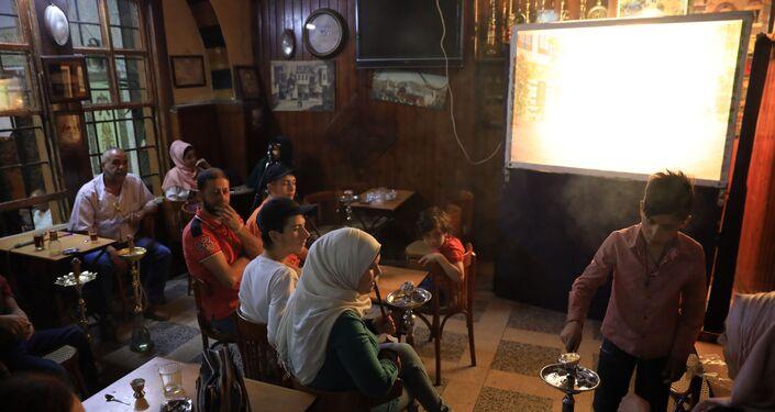 شادي رشيد الحلاق، حكواتي النوفرة، دمشق، سوريا 11 مايو 2021