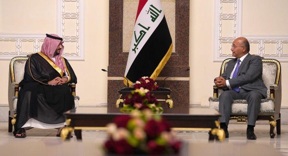 الرئيس العراقي برهم صالح يستقبل نائب وزير الدفاع السعودي الأمير خالد بن سلمان بن عبد العزيز