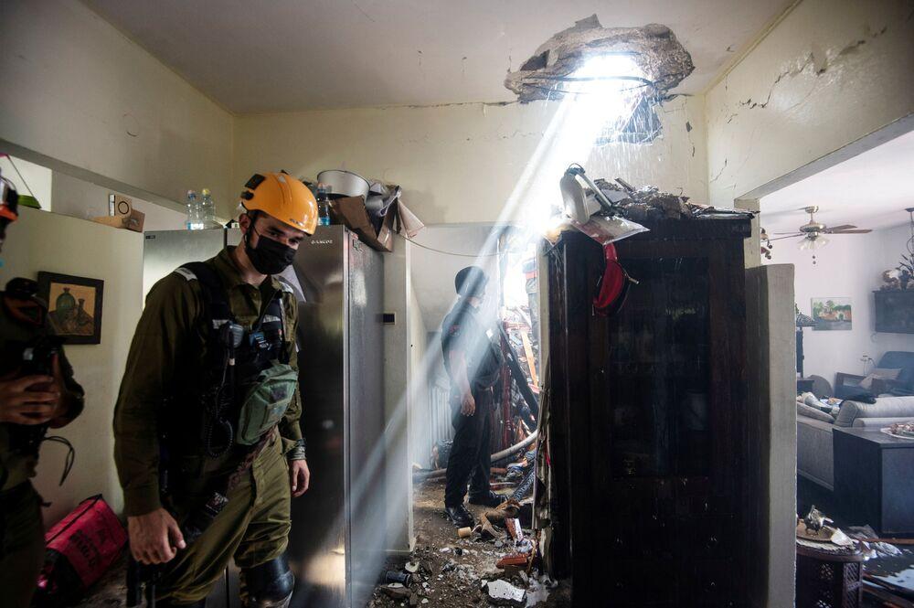 تداعيات قصف المقاومة الفلسطينية على مدينة أسدود، إسرائيل، 11-12 مايو 2021