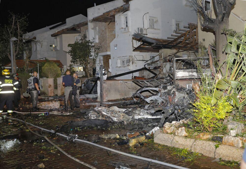 تداعيات قصف المقاومة الفلسطينية على بلدة ريشون لتسيون (ريشون لتصيون)، إسرائيل، 11-12 مايو 2021