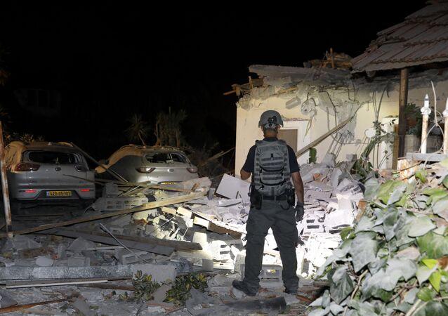 تداعيات قصف المقاومة الفلسطينية على مدينة تل أبيب، إسرائيل، 11-12 مايو 2021