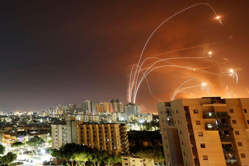 قصف المقاومة الفلسطينية على عسقلان، إسرائيل، 11-12 مايو 2021