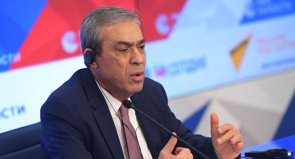 عبدالحفيظ نوفل، سفير دولة فلسطين إلى روسيا، في موسكو، 12 مايو 2021