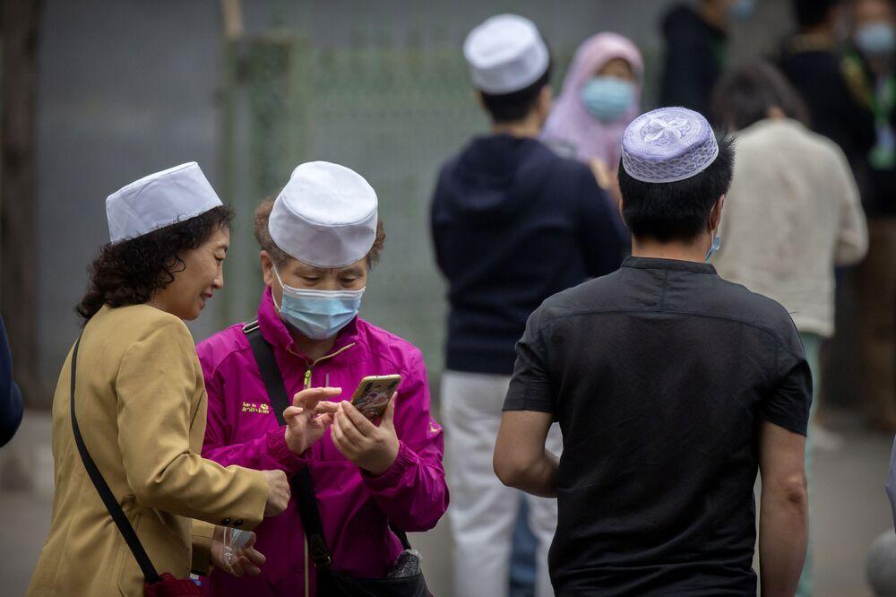 صلاة عيد الفطر في مسجد نيوجي في بكين، الصين13 مايو 2021