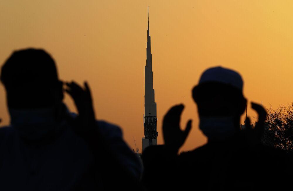 صلاة عيد الفطر في مدينة دبي، الإمارات العربية المتحدة 13 مايو 2021