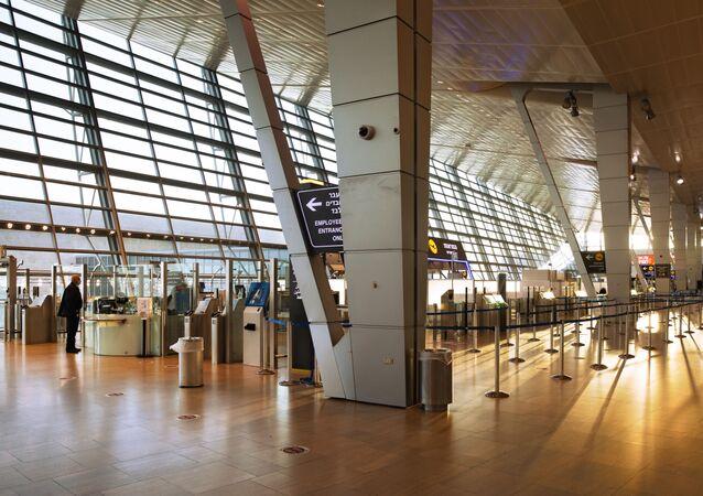 مطار بن غوريون الدولي في تل أبيب، إسرائيل، صور من أرشيف2021
