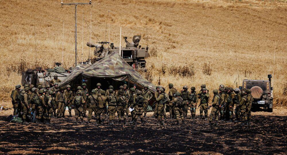 جنود الجيش الإسرائيلي على حدود قطاع غزة، 14 مايو 2021