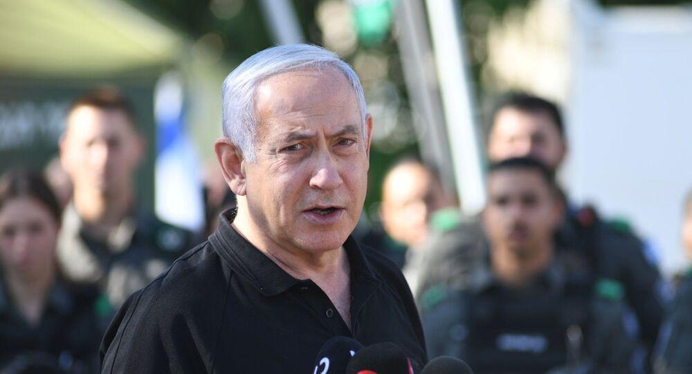 رئيس الوزراء الإسرائيلي بنيامين نتنياهو، القدس 13 مايو 2021
