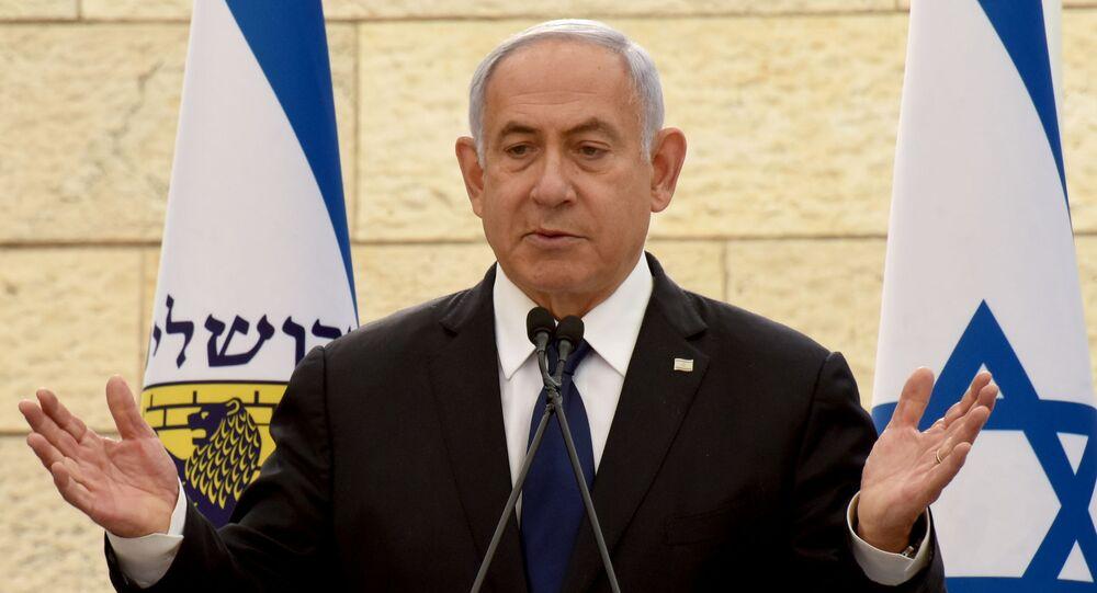 رئيس الوزراء الإسرائيلي بنيامين نتنياهو، القدس 13 أبريل 2021