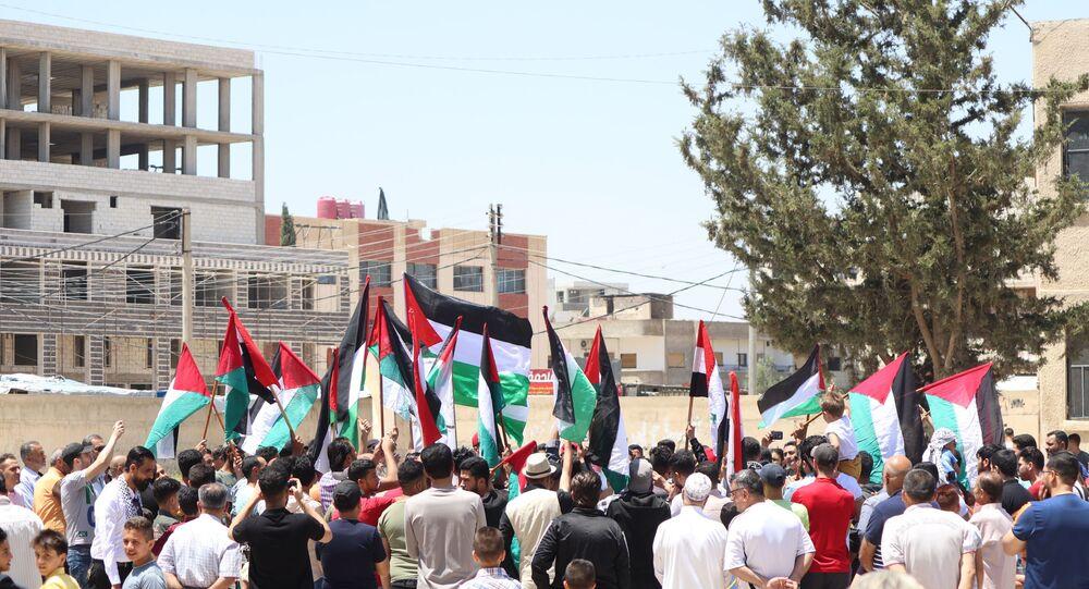 فلسطينيو درعا: ع القدس رايحين شهداء بالملايين