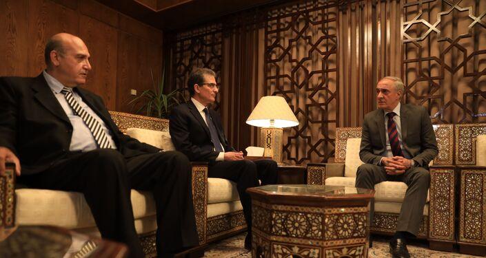 رئيس أبخازيا في زيارته إلى دمشق