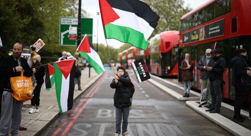 مظاهرات مؤيدة لـ فلسطين في لندن، إنجلترا 15 مايو 2021