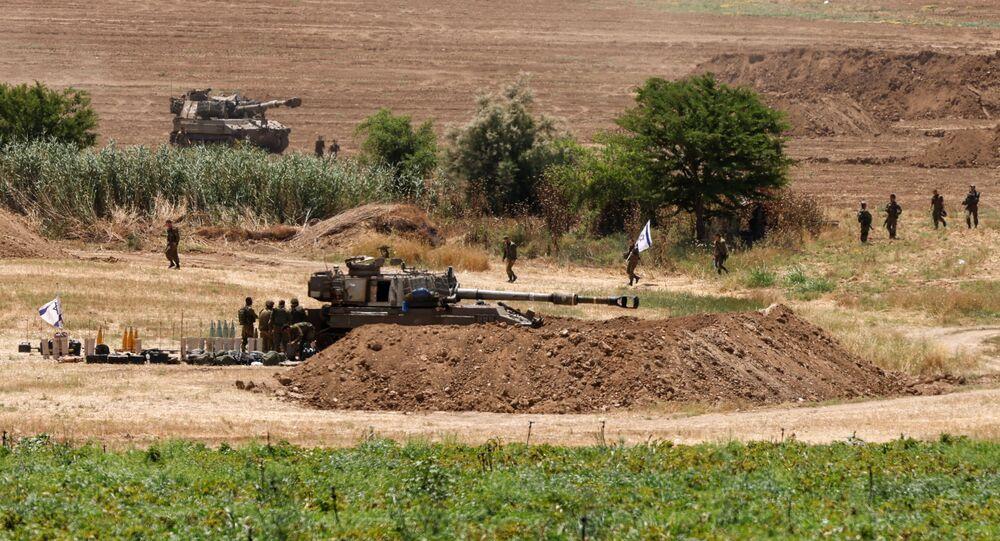 جنود الجيش الإسرائيلي على حدود قطاع غزة، فلسطين، إسرائيل 17 مايو 2021