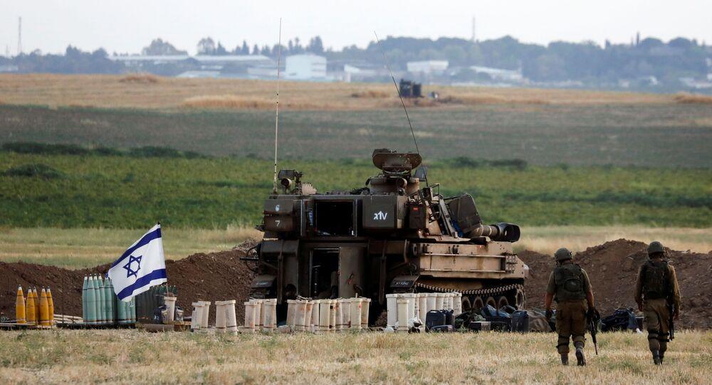 جنود الجيش الإسرائيلي على حدود قطاع غزة، 16 مايو 2021