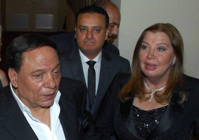 الفنان المصري، عادل إمام، وزوجته، هالة الشلقاني