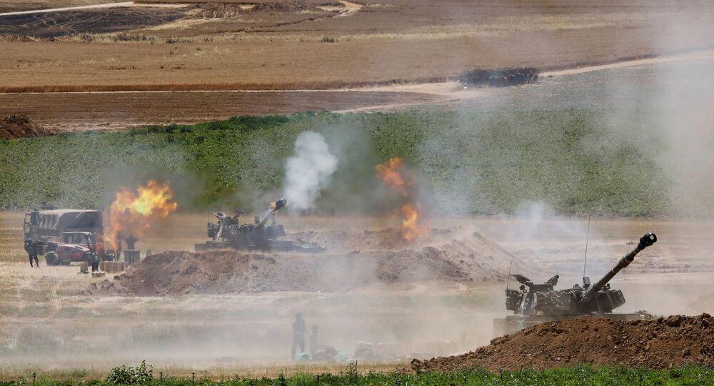 جنود الجيش الإسرائيلي على حدود قطاع غزة، فلسطين، إسرائيل 16 مايو 2021
