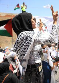 وقفة تضامنية مع الفلسطينيين في دمشق، سوريا 17 مايو 2021