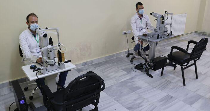 مستشفى العيون الجراحي في منطقة قاضي عسكر، حلب، سوريا 18 مايو 2021