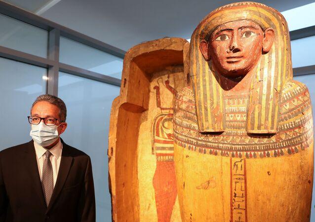 افتتاح متحف جديد للمومياء في مطار القاهرة الدولي في القاهرة، مصر 18 مايو 2021
