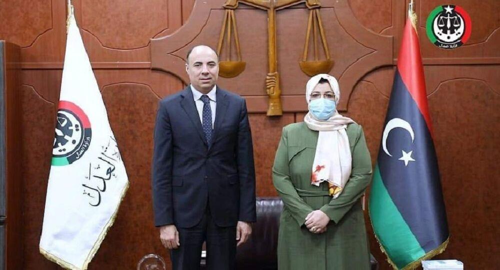 وزيرة العدل الليبية حليمة إبراهيم عبد الرحمن