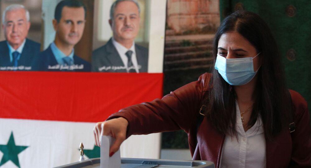 الانتخابات الرئاسية السورية في سفارة سوريا لدى روسيا في موسكو، روسيا 20 مايو 2021