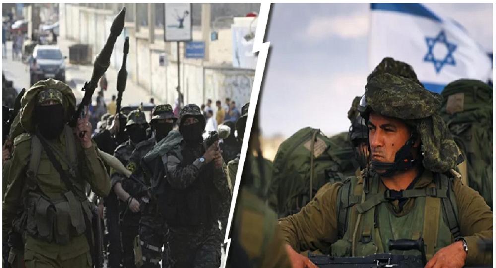 جنود الجيش الإسرائيلي ومقاتلي الفصائل الفلسطينية