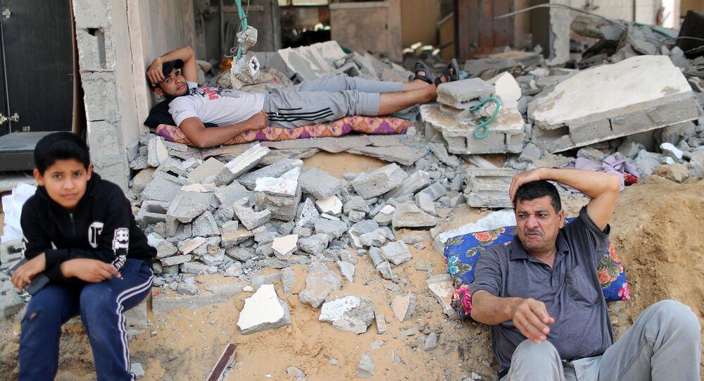 عودة الفلسطينيين إلى منازلهم بعد اتفاق وقف إطلاق النار، قطاع غزة 21 مايو 2021