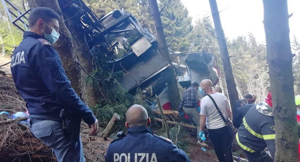 حادثة تلفريك إيطاليا