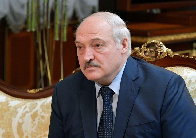 الرئيس البيلاروسي ألكسندر لوكاشينكو في مينسك، بيلاروسيا 16 أبريل 2021