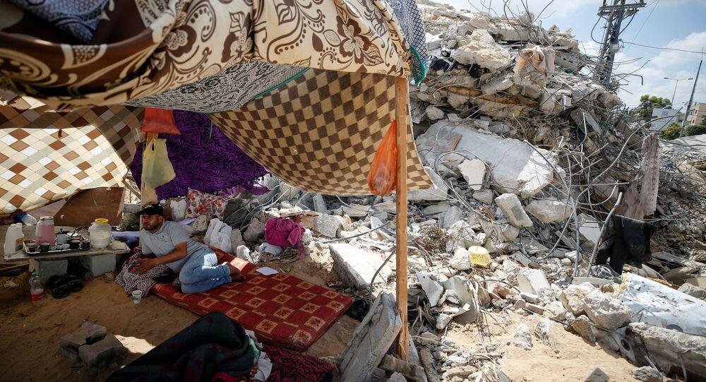 عودة الفلسطينيين إلى منازلهم في غزة