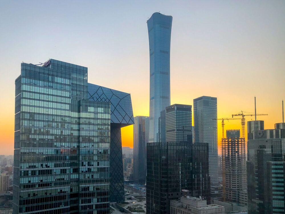 ناطحات سحاب للمركز التجاري سيتيك تاور (CITIC Tower) في بكين، الصين