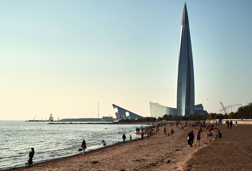 ناطحة سحاب لاختا-سنتر (Lakhta Center)  في سان بطرسبورغ، روسيا