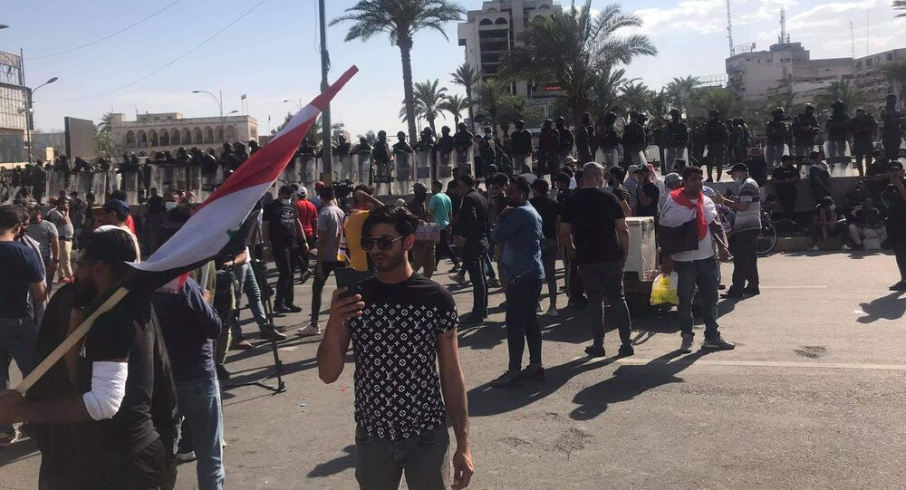 التظاهرات الشعبية في بغداد