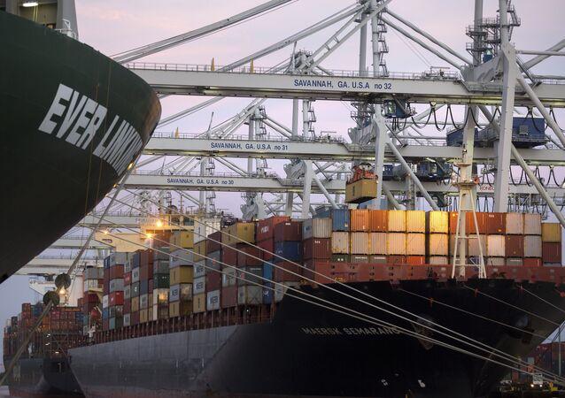 شركة شحن الحاويات الدنماركية ميرسك
