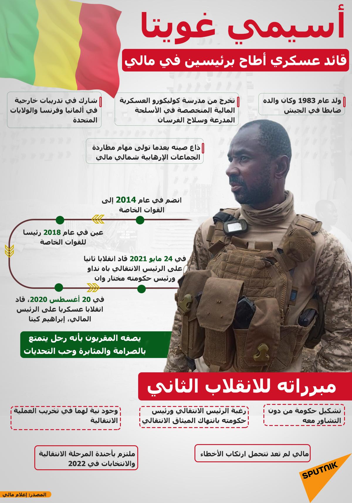 أسيمي غويتا.. الرجل القوي الذي أطاح برئيسين في مالي