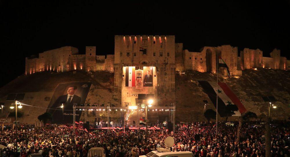 احتفالات حلبية ليلية بفوز الأسد